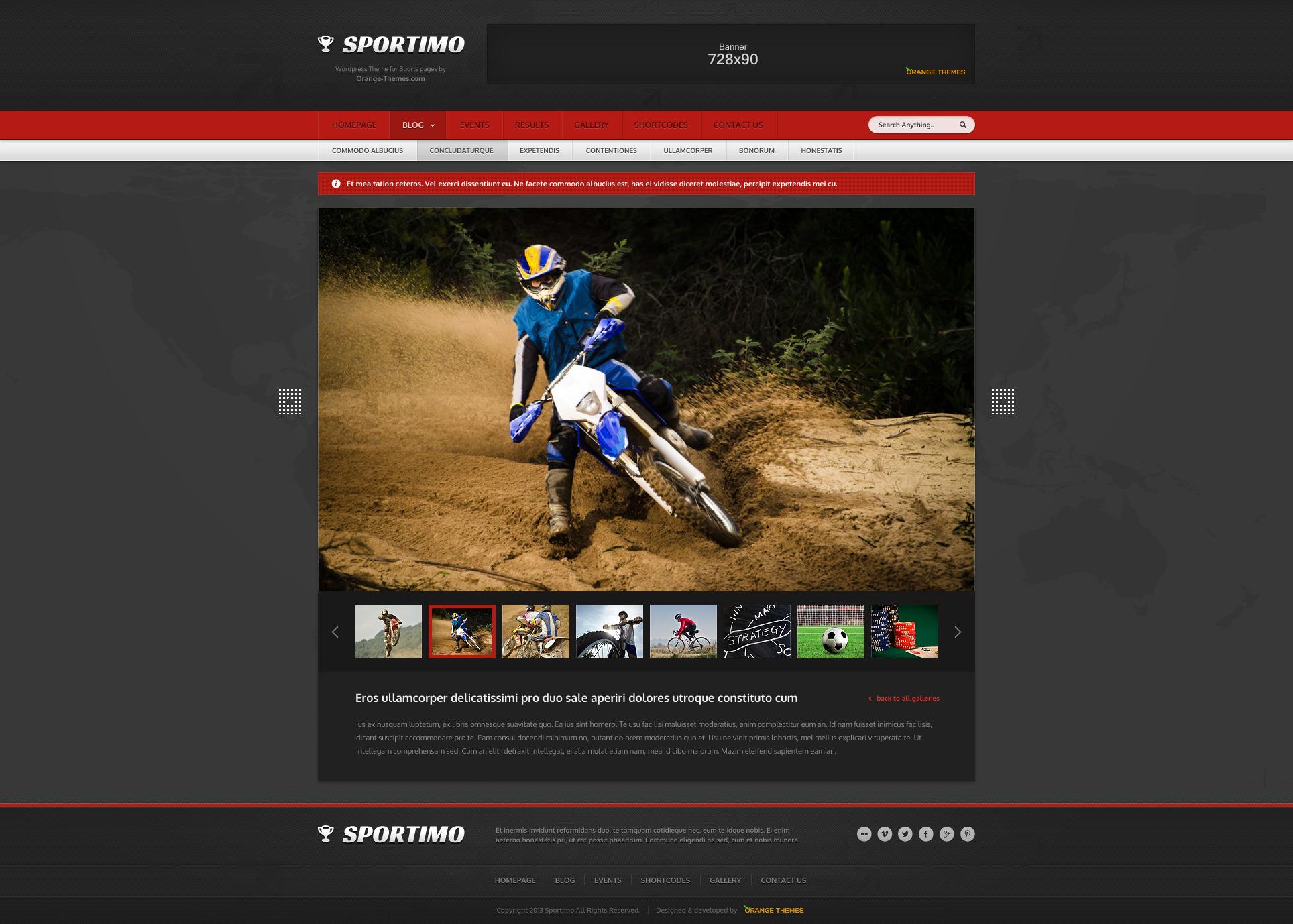 Sportimo WordPress Theme