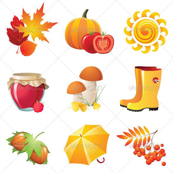 Autumn Icons - Seasons Nature