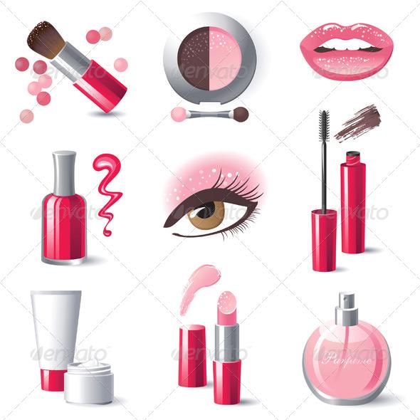 Make-up Icons - Vectors