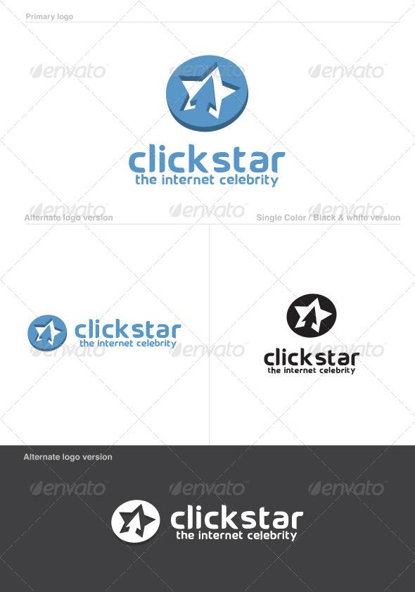 Click Star Logo Template - Abstract Logo Templates