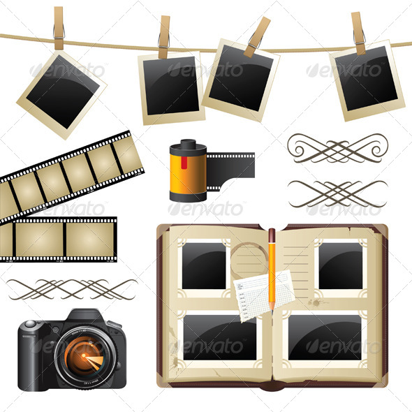 Photography Set - Objects Vectors