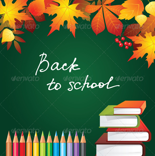 Back to School Background - Backgrounds Decorative