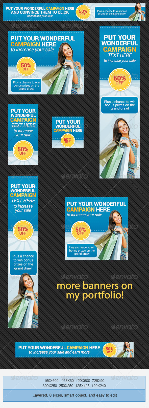 Shopping Banner Ad Set - Banners & Ads Web Elements
