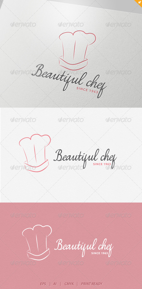 Beautiful Chef Logo - Humans Logo Templates