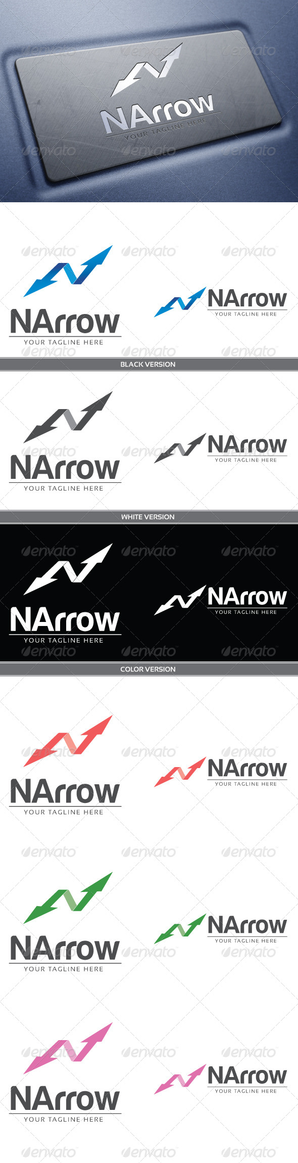 NArrow - Letters Logo Templates