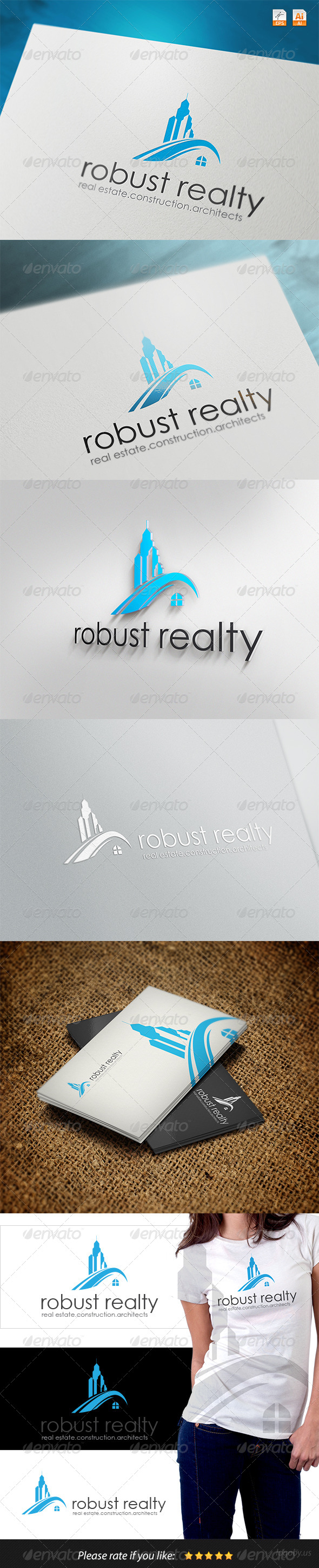 Robust Real Realty Logo - Buildings Logo Templates