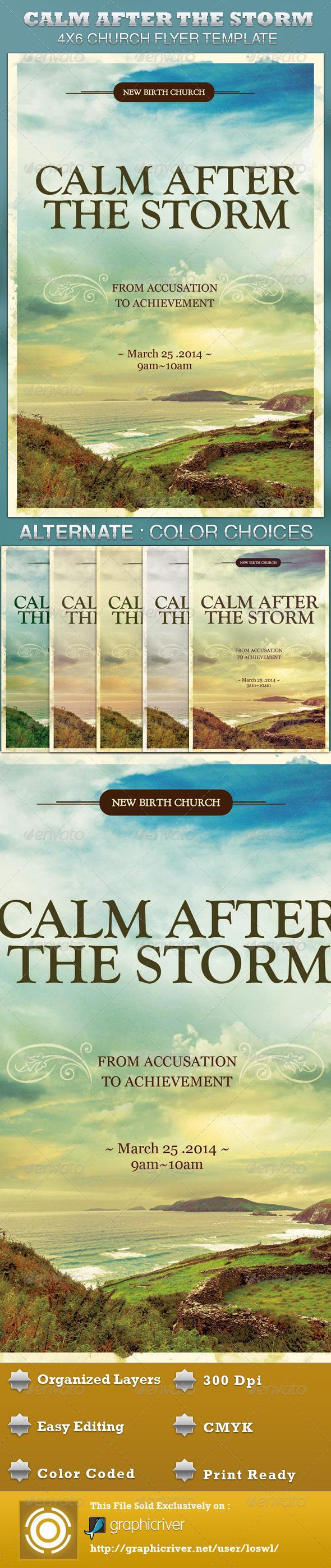 Calm After the Storm Church Flyer Template - Church Flyers