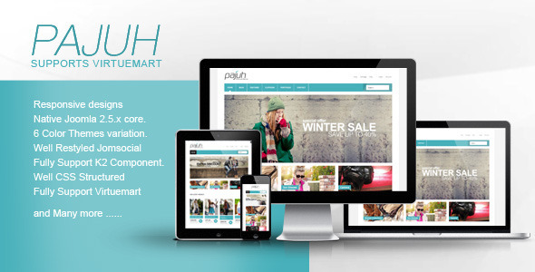 Pajuh – Clean and Responsive Virtuemart Templates