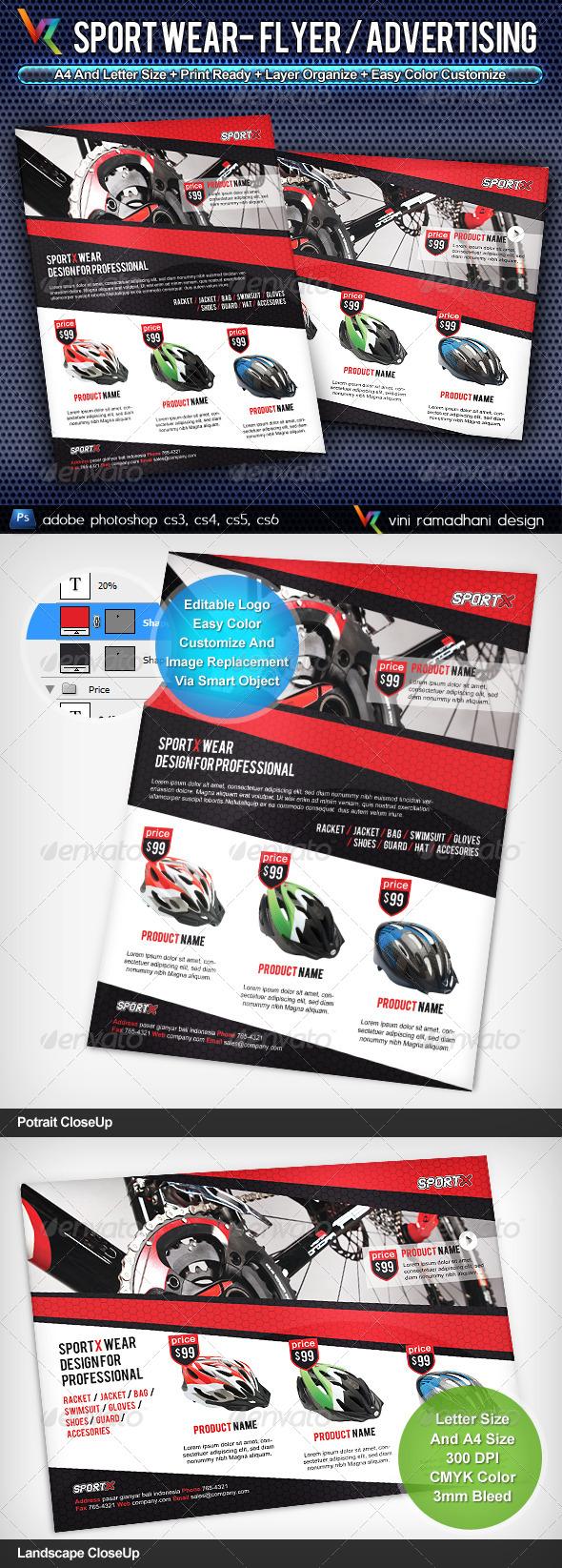 Sport Wear Flyer / Advertisement - Commerce Flyers