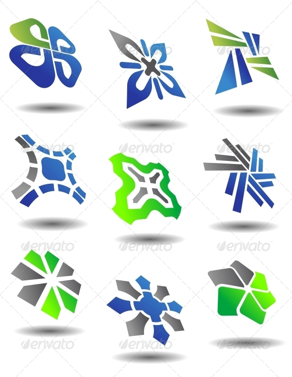 Set of Abstract Symbols - Decorative Symbols Decorative