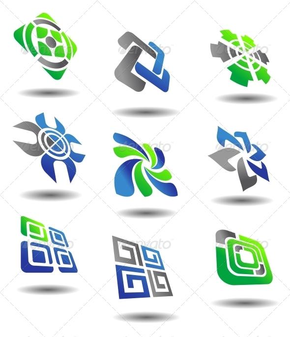 Set of Abstract Symbols - Decorative Symbols Decorative
