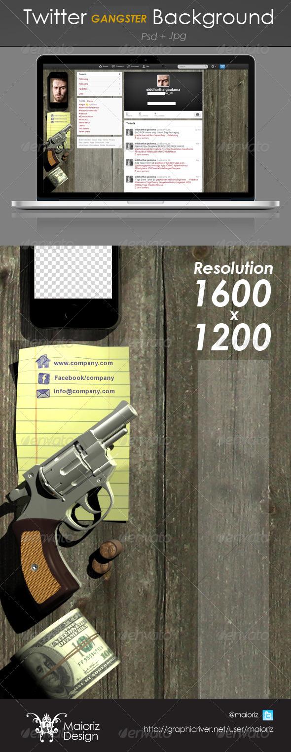 Gangster Twitter Background - Twitter Social Media