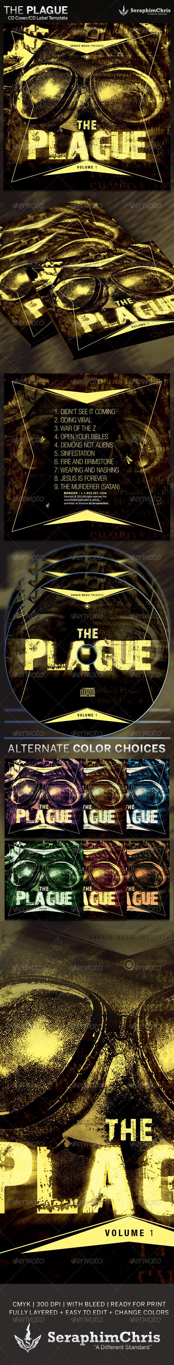 The Plague: CD Cover Artwork Template - CD & DVD Artwork Print Templates
