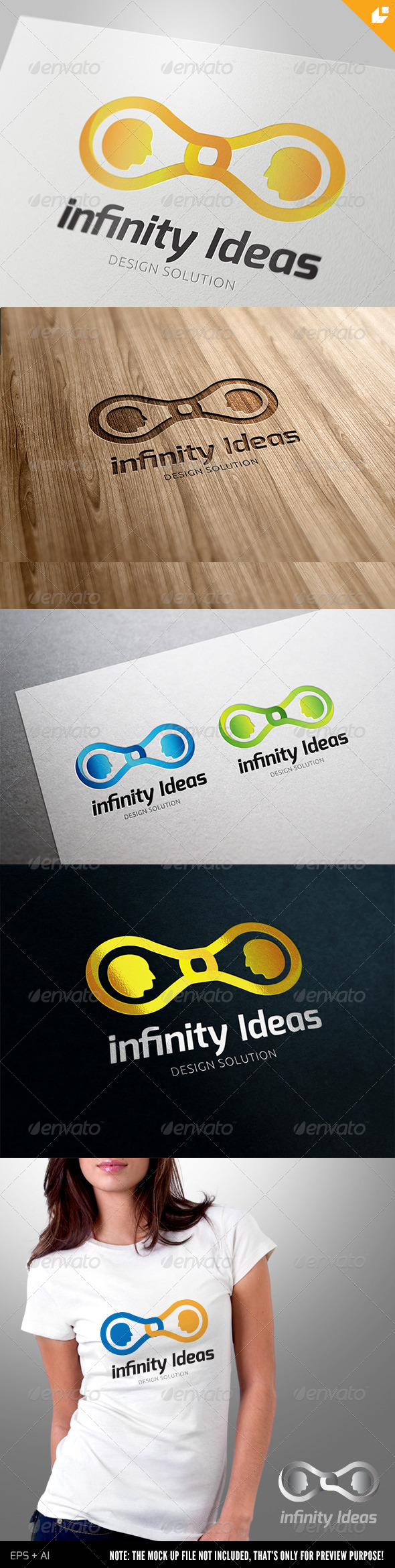 Infinity ideas Logo - 3d Abstract