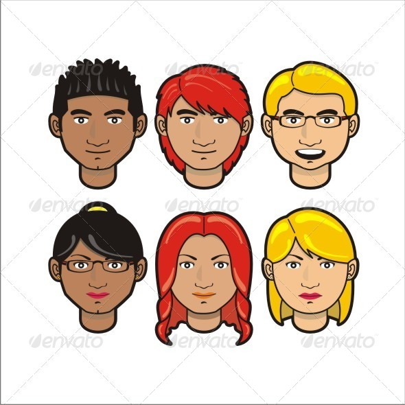 Character Face - Characters Vectors