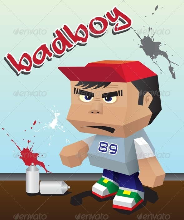 Badboy Paper Toy - People Characters