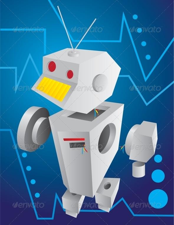 Broken Robot - Man-made Objects Objects