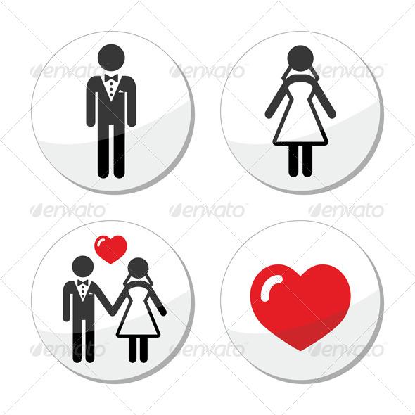Wedding Icons Married Couple - Weddings Seasons/Holidays