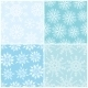 Four Winter Seamless Backgrounds - GraphicRiver Item for Sale