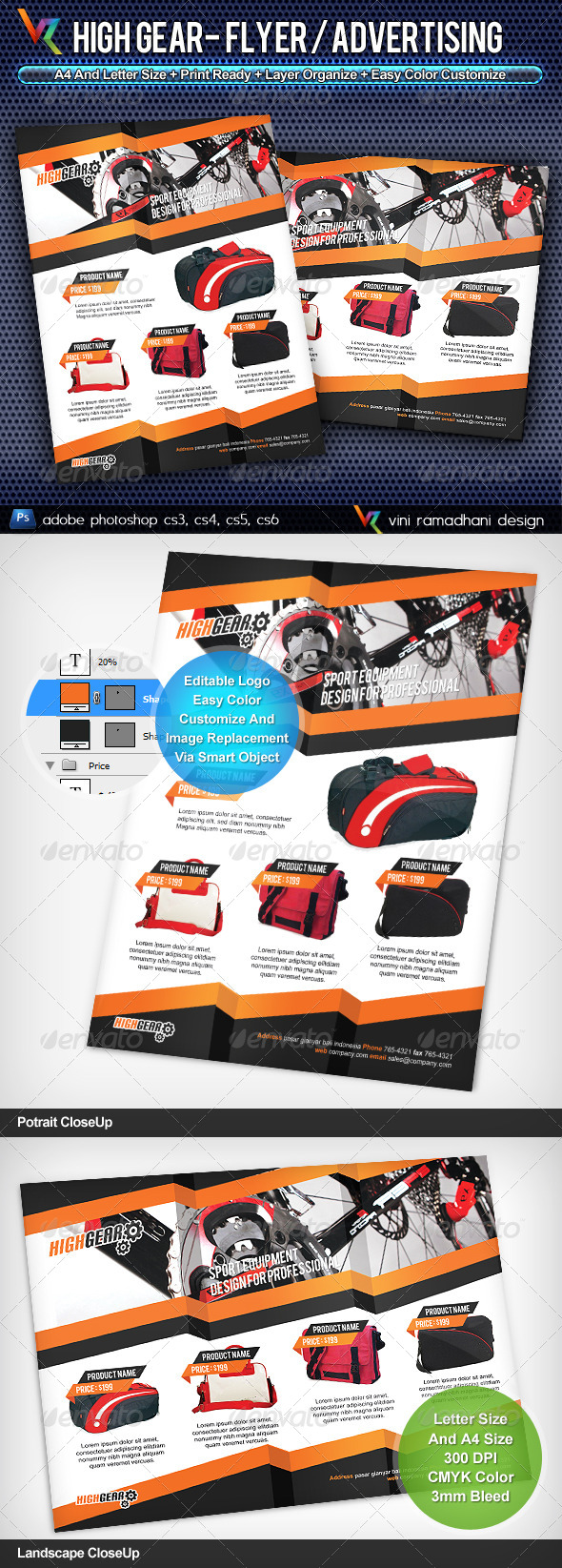 High Gear Flyer or Advertising - Commerce Flyers