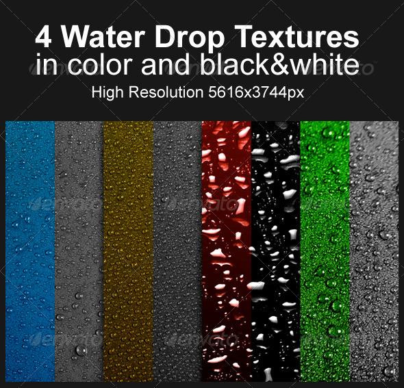 4 Water Drop Textures - Liquid Textures