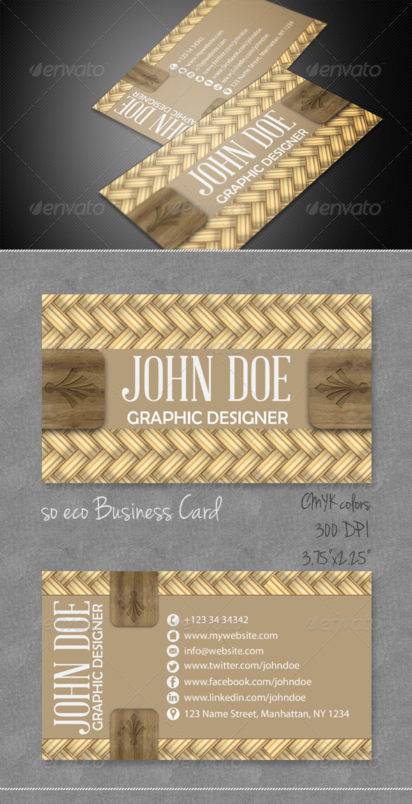 Wicker Business Card - Creative Business Cards