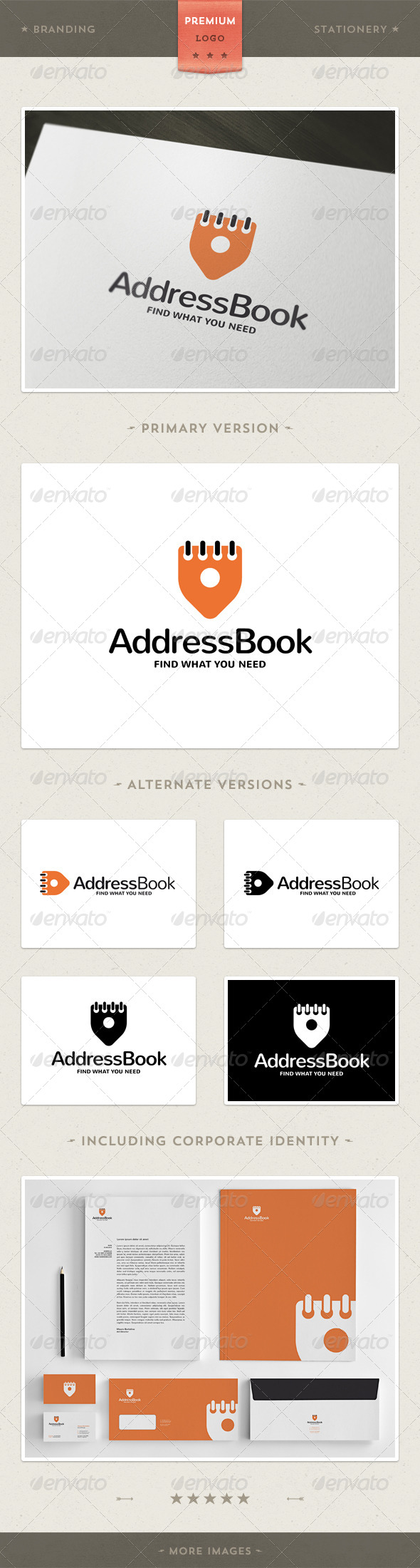 Adress Book - Logo + Corporate Identity - Objects Logo Templates