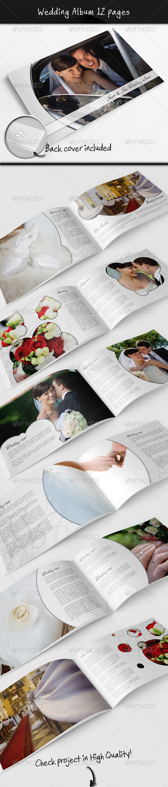 Wedding Photo Album - Photo Albums Print Templates