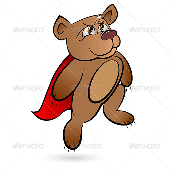Bear Superhero - Characters Vectors