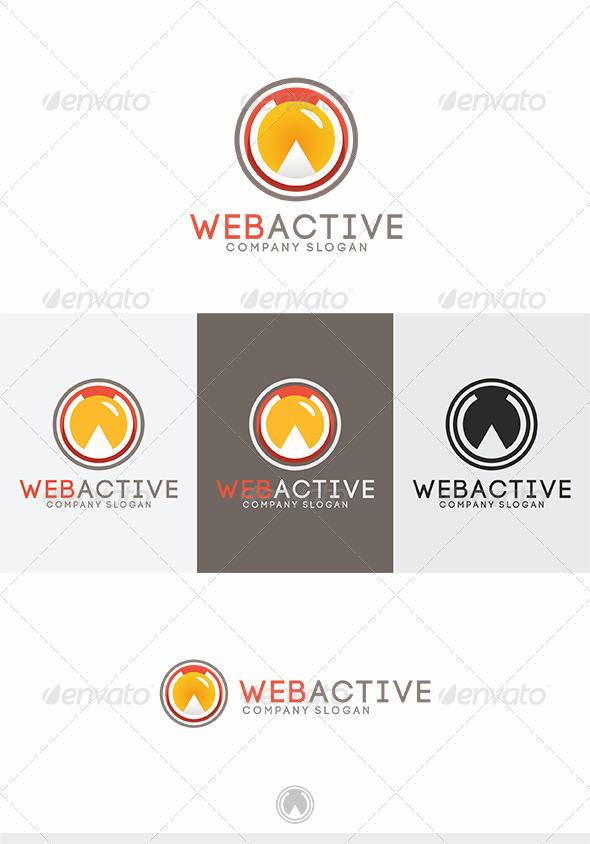 Web Active Logo - Letters Logo Templates