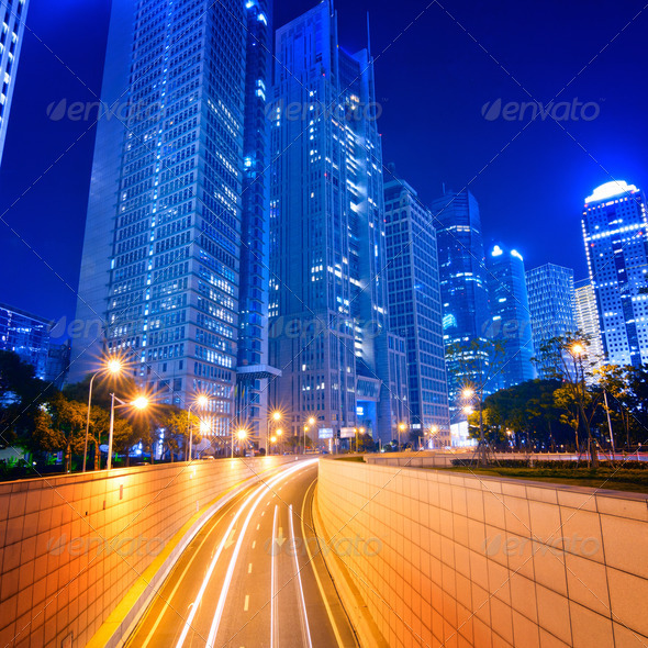 Megacity Highway in China - Stock Photo - Images