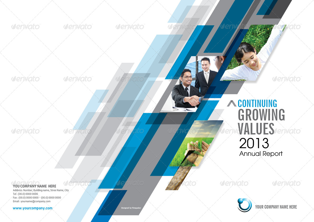 Template Of Annual Report  Annual Reports Templates
