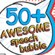 50+ Speech Bubbles - GraphicRiver Item for Sale