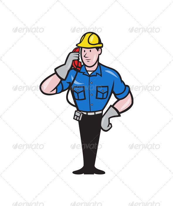 Telephone Repairman - People Characters