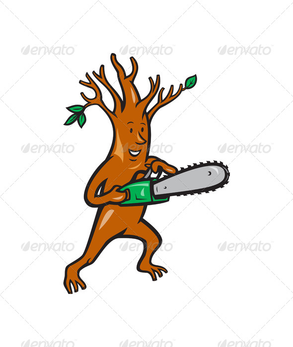Tree Man Arborist With Chainsaw - Miscellaneous Characters
