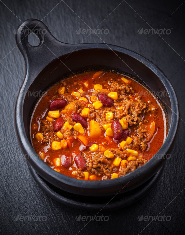 Hot chilli con carne - Stock Photo - Images