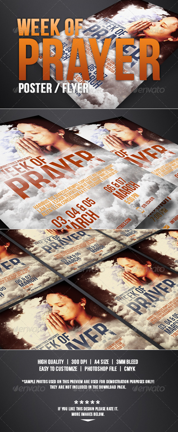 Week of Prayer of Poster / Flyer - Church Flyers