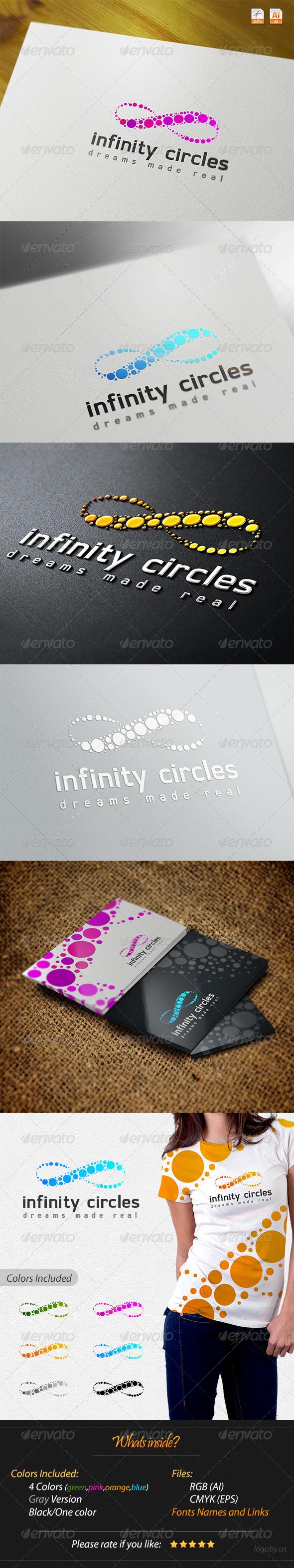 Infinity Circles Logo - Symbols Logo Templates