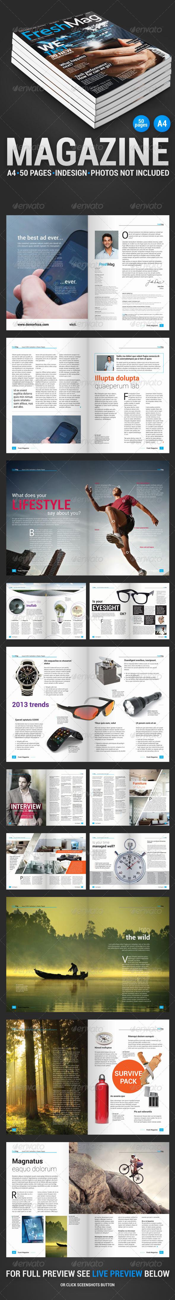 FreshMag 50 Page Magazine - Magazines Print Templates