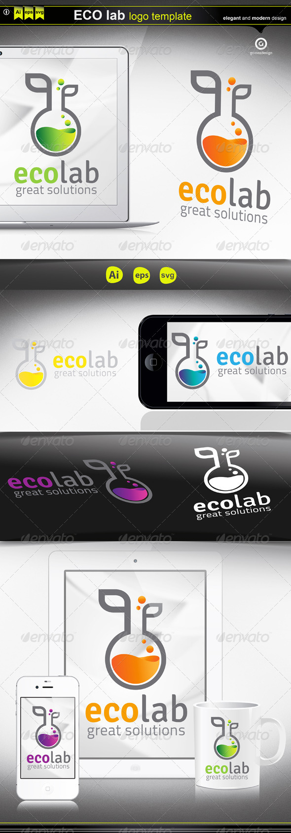 Eco Lab - Logo Templates