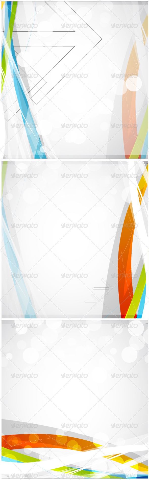 Color waves - Backgrounds Business