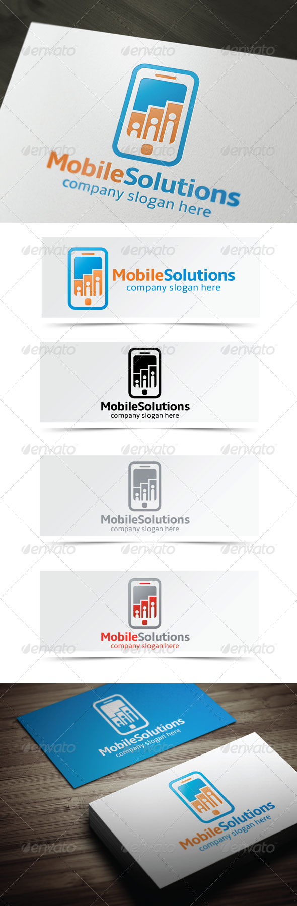 Mobile Solutions - Objects Logo Templates