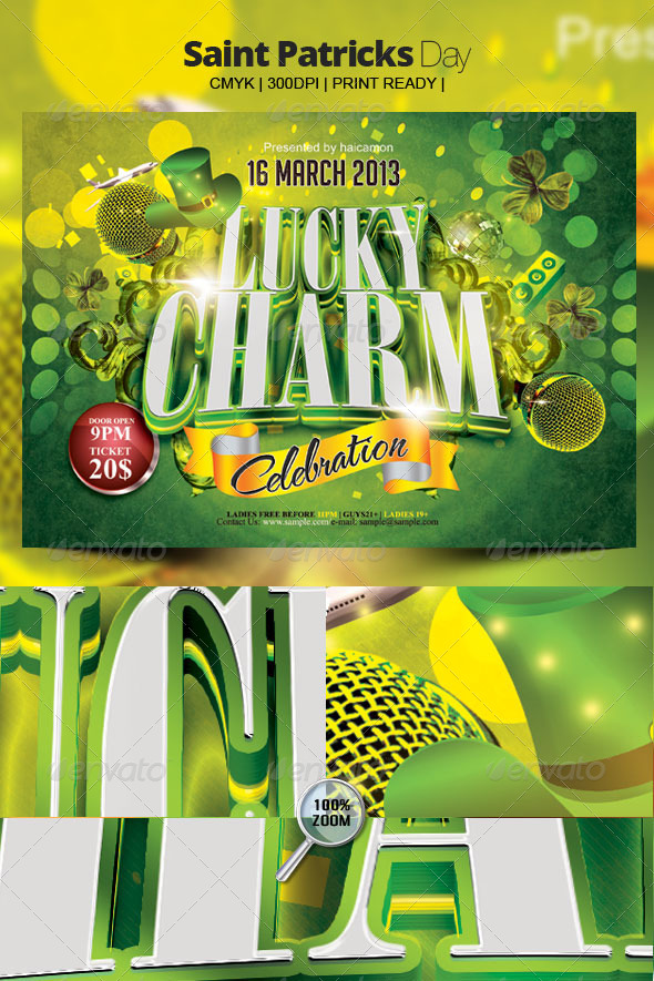 Saint Patricks Day - Flyers Print Templates