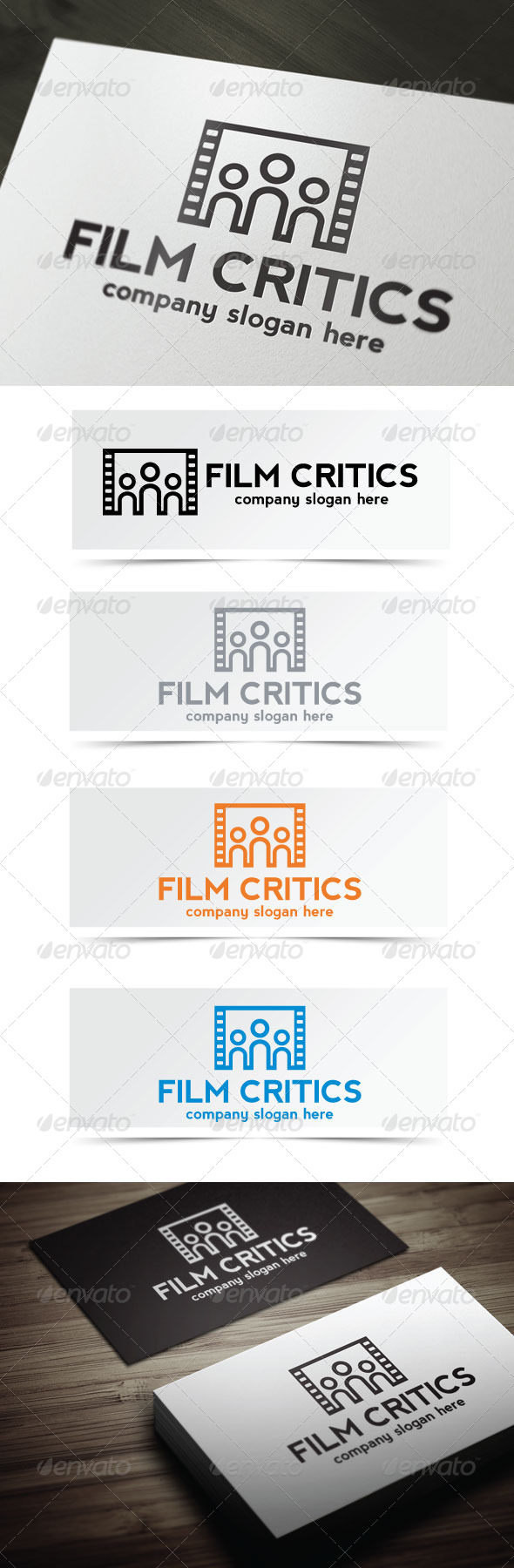 Film Critics - Objects Logo Templates