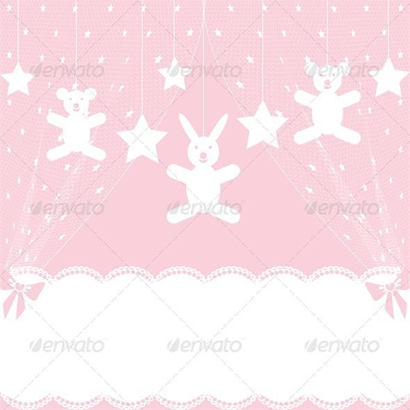 Baby Shower Card with Crib. - Birthdays Seasons/Holidays