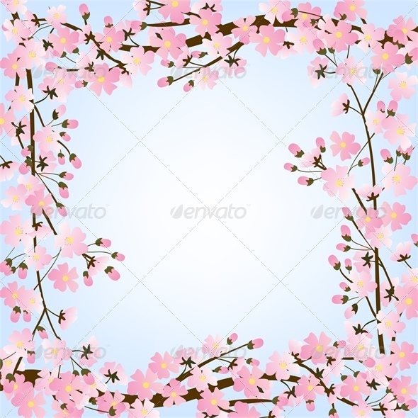 Spring Background with Blooming Tree  - Seasons Nature