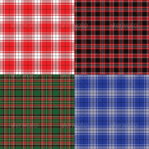 Checkered Fabric Seamless  - Backgrounds Decorative