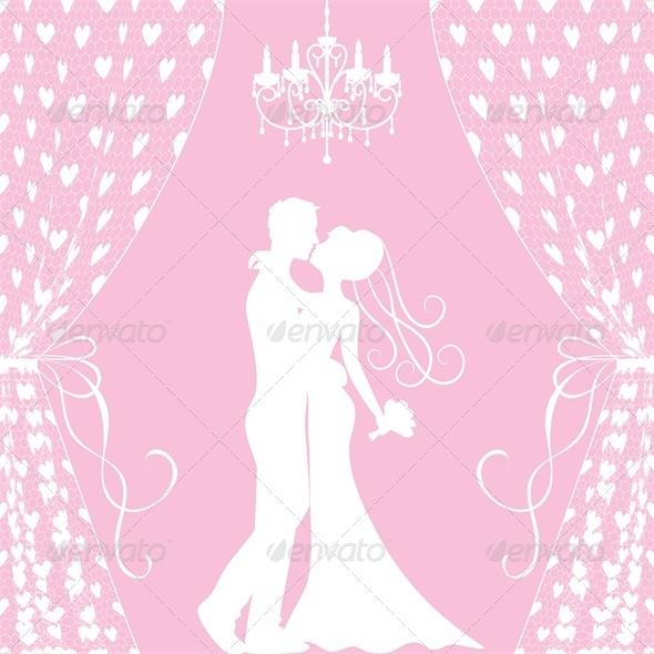 Wedding Card - Groom and Bride - Weddings Seasons/Holidays
