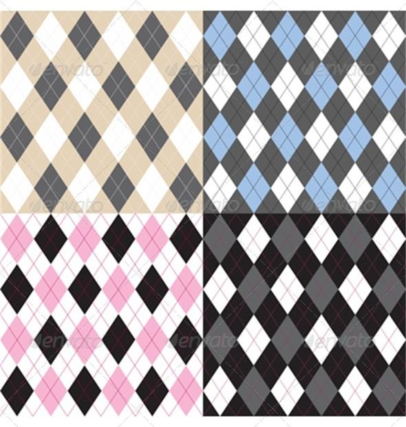 Argyle Pattern Set - Backgrounds Decorative