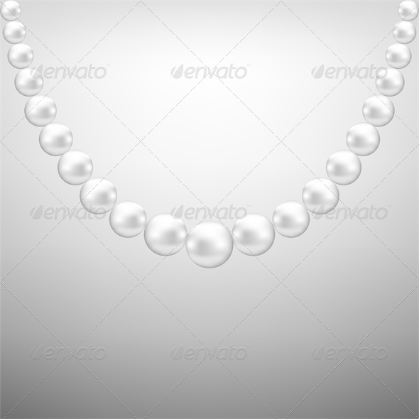 Gray Background with White Pearl Necklace - Retail Commercial / Shopping